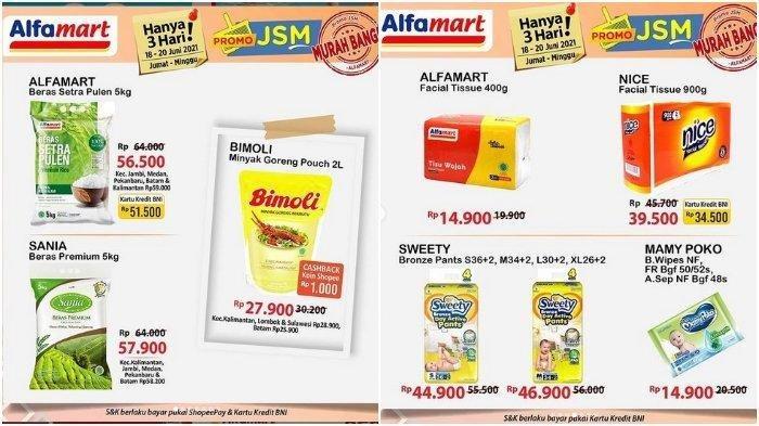 Promo JSM Alfamart Periode 18-20 Juni 2021, Sania Beras Premium 5 Kg Rp 57.900, Bayar Pakai Shopee