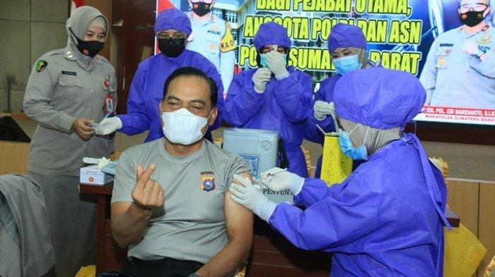 Targetkan 10.441 Personel Polda Sumbar Disuntik Vaksin Covid-19, Wakapolda: Sebelum Ramadan Selesai