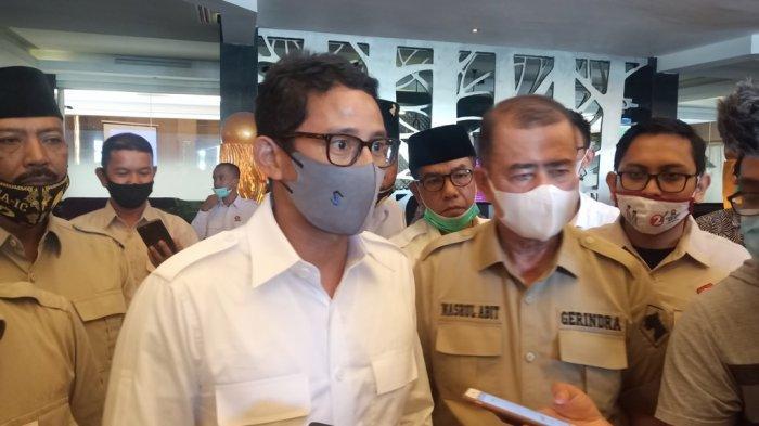 Alasan Sandiaga Uno ke Bukittinggi Temui Pedagang Setelah Rapat Konsolidasi Gerindra di Padang