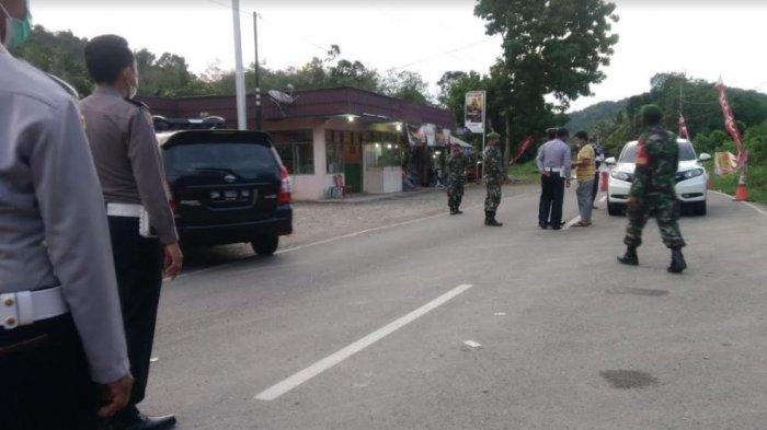 H+1 Idul Fitri 24 Mobil dan Sepeda Motor di Perbatasan Sumbar-Riau Disuruh Putar Balik