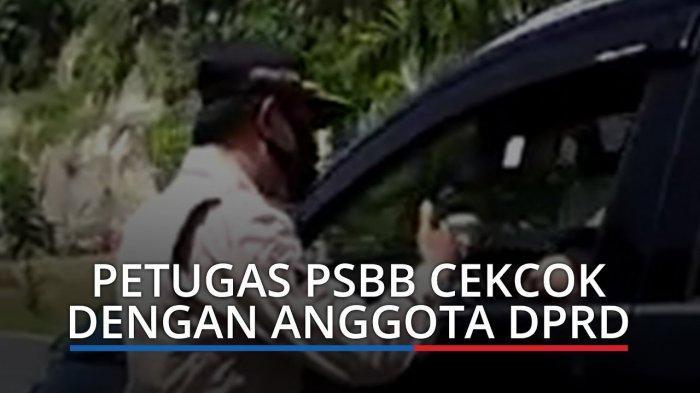VIRAL Video Cekcok Anggota DPRD Pasaman Vs Petugas PSBB, Ngaku Masker Hilang lalu Tancap Gas