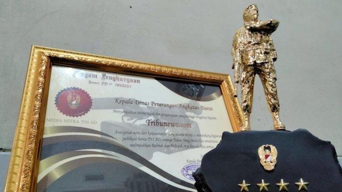 Tribunnews.com Raih ''Piala Tentara Emas'' dari TNI Angkatan Darat, Kategori Media Online