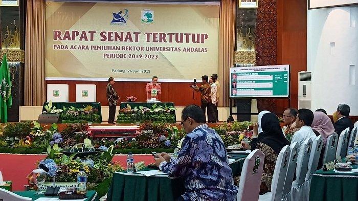 Yuliandri Raih Suara Terbanyak Pemilihan Rektor Universitas Andalas, 3 Kandidat Sempat Adu Komitmen