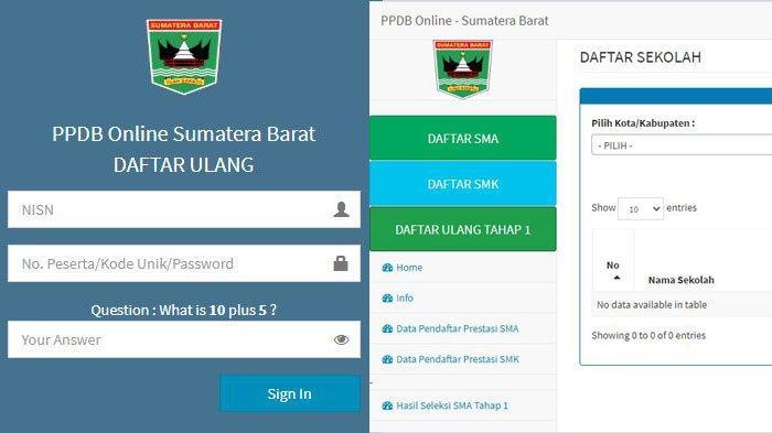 Cara Daftar Ulang PPDB Online SMA/SMK Sumbar, Kadisdik: Daftar Ulang Dilakukan Online