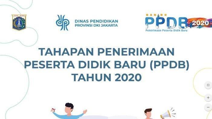 Cara Daftar PPDB Online 2020 di Jakarta, KLIKppdb.jakarta.go.id dan Pahami Tahapan Pendaftaran