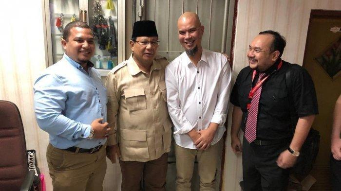 Jenguk Ahmad Dhani di Lapas, Prabowo: Ini Mungkin Dendam Politik atau Intimidasi Politik