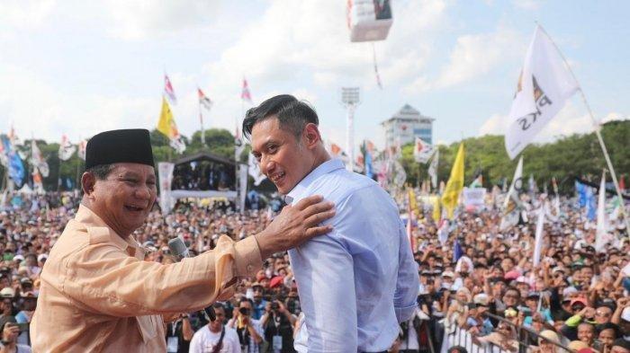 Prabowo Sebut AHY akan Jadi Salah Satu Bagian dari Pemerintahannya, Apabila Terpilih