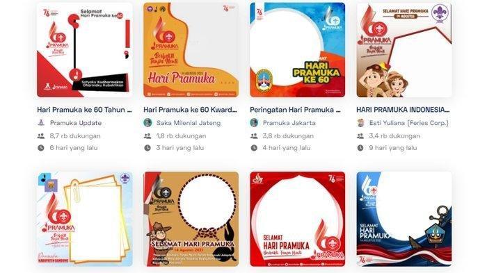 Download 25 Link Twibbon Hari Pramuka ke-60 Tahun 2021, Diperingati 14 Agustus
