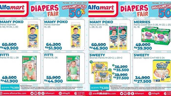 Promo Alfamart 1-15 Desember 2021, Diskon Pampers Mamy Poko hingga Sweety dan Merries