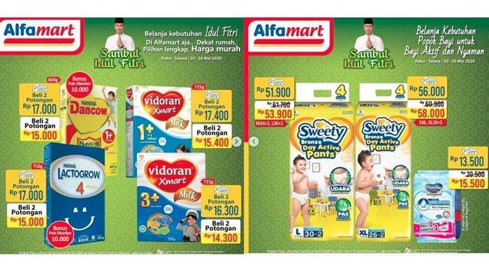 Promo Alfamart Khusus Aneka Susu & Pampers, Mulai Dancow, Vidoran, Entrasol, Milo hingga Sweety