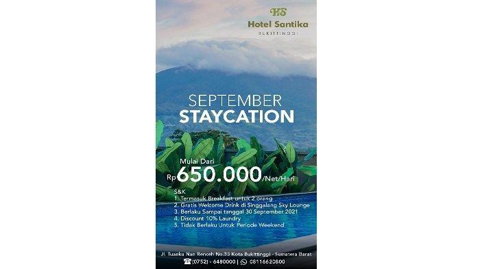 Hotel Santika Bukittinggi Menawarkan Promo Menarik di Bulan September
