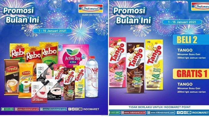 Promo Indomaret 1-15 Januari 2021 Beli 2 Gratis 1, Mulai Tango Susu Cair hingga Kuaci Rebo