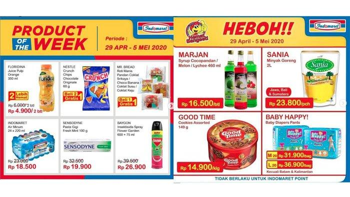 Katalog Promo Indomaret, Minyak Goreng Sania Rp 23.800 Marjan Rp 16.500, Berakhir 5 Mei 2020