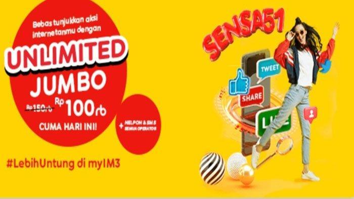 PROMO Paket Internet IM3, Unlimited Akses Internet, Youtube dan Instagram 24 Jam, Hanya Rp100 Ribu