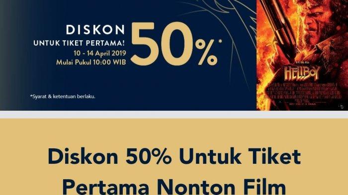 Promo TIX ID Hari Ini, Tiket Nonton Film Hellboy di Cinema XXI Diskon 50 Persen, Cek Syaratnya
