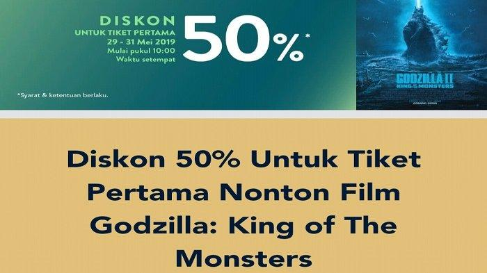 Promo TIX ID Godzilla II:King of The Monsters Tayang Perdana Hari Ini,Diskon 50 Persen Tiket Pertama