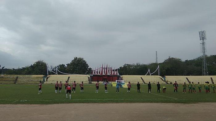 Laga Uji Coba PSP Padang vs TUI FC, Empat Gol Tercipta di Babak Pertama
