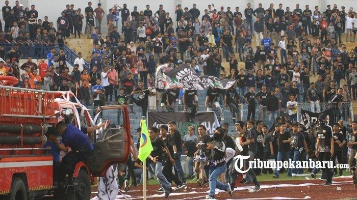 PSPS Riau Vs PSMS Medan Sempat Ricuh Bakal Jatuh Sanksi dari Komisi Disiplin