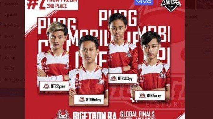 Bigetron Red Aliens, Wakil Indonesia Tampil Jadi Juara di Kejuaraan Dunia PUBG Mobile