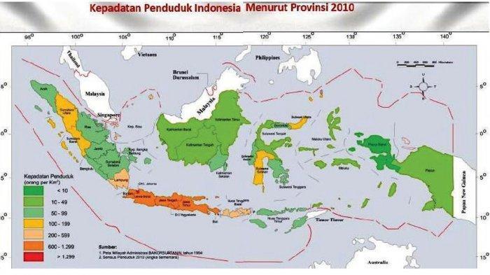 Pulau Manakah yang Paling Padat Penduduknya di Indonesia Berdasarkan Peta? Tema 1 Kelas 5 Hal 77