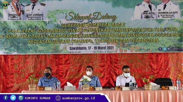 Sinkronisasi Urusan Kominfotik, Wali kota Sawahlunto Buka Rakor Kominfo Sumbar Tahun 2021