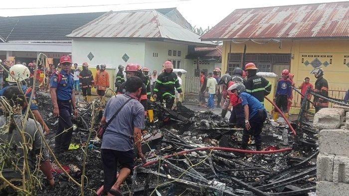 Warung di Parak Karakah yang Menjual Keperluan Sehari-hari Ludes Terbakar