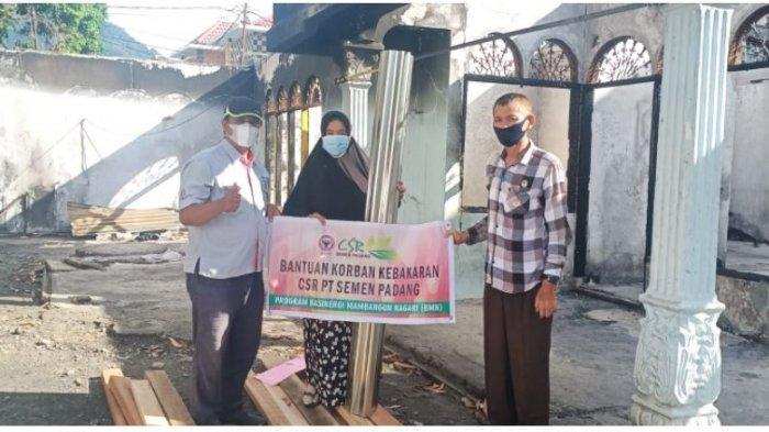 Tinggal di Warung Ukuran 3x4 Meter, Korban Kebakaran di Ampera Dibantu Semen Padang