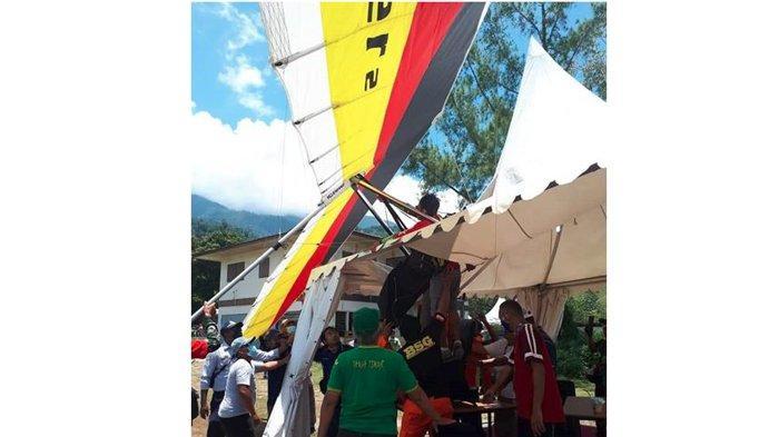 Sempat Take Off Sempurna, Atlet Gantole Sumbar Nyaris Celaka Saat Mendarat di PON Papua 2021