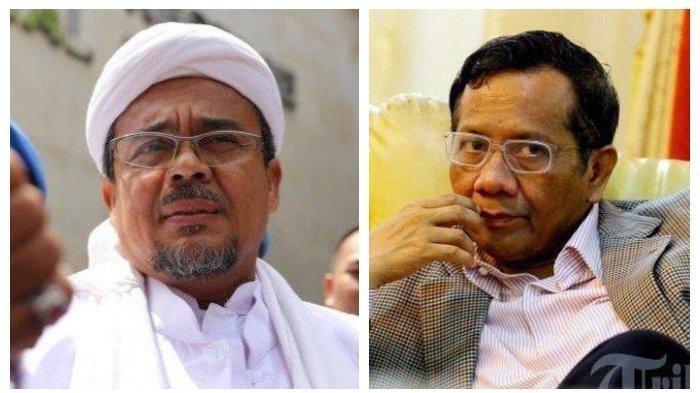 Habib Rizieq DilarangKeluar Arab Saudi, Mahfud MD Minta Rizieq Shihab Selesaikan Masalah Sendiri