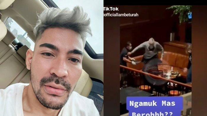 Beredar Video Pria Mirip Robby Purba Dorong Pelayan, Netizen Serbu Kolom Komentar