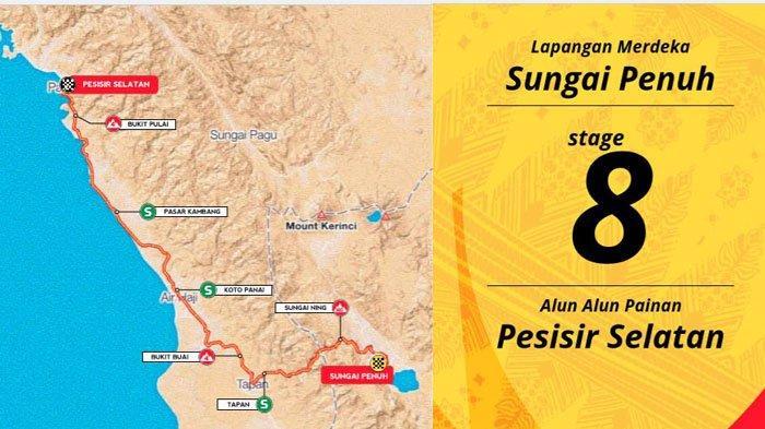 Rute Etape 8 TdS 2019, Peserta Tour de Singkarak Start di Sungai Penuh Jambi Menuju Painan Sumbar