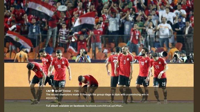 Sepakan Mohamed Salah Antarkan Timnas Mesir Juara Grup Piala Afrika