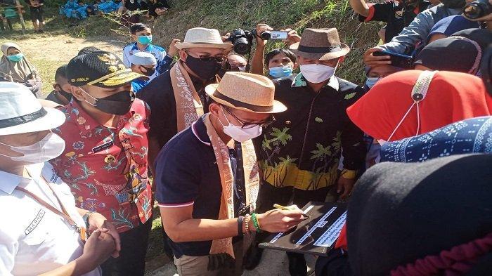 Sandiaga Uno Sambangi Desa Wisata Tungkal Selatan, Destinasi Wisata Kota Pariaman
