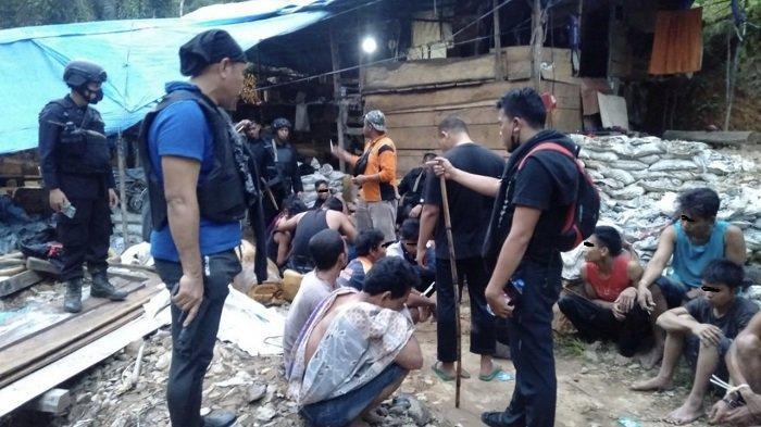 21 Terduga Pelaku Illegal Mining, Tim Polres Solsel dan Satbrimobda Polda Sumbar Sasar ke Lokasi