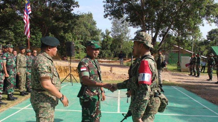 Kasrem 121/ABW Buka Upacara Patroli Terkoordinasi TNI dengan RAMD di Perbatasan RI - Malaysia
