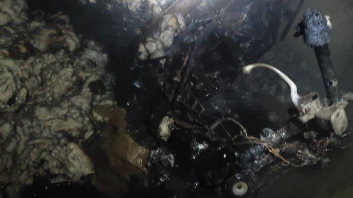 Sepeda Motor Terbakar Dalam Kamar di Agam, Diduga Sengaja Dibakar