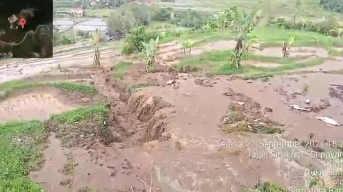 2 Hektare Sawah Warga di KotoTinggaNagari Sirukam Kabupaten Solok Terendam Lumpur