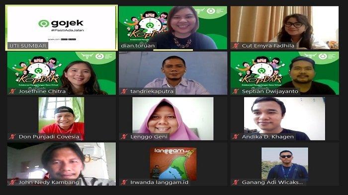 Gojek Padang Gelar Kolaborasi Penggalangan Dana Virtual, Jersey Nil Maizar Ikut Disumbangkan
