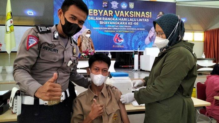 Vaksinasi Covid-19 di SMKN 2 Kota Pariaman, Siswa Berharap Pembelajaran Tatap Muka Terus Dilakukan