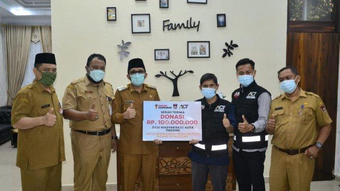 Setelah Ambulance Untuk Palestina, Pemko Padang Kembali Salurkan Bantuan Rp.100 Juta