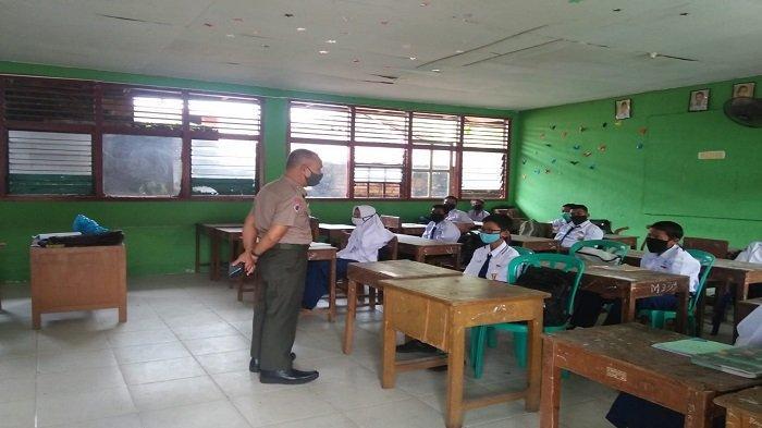 BPBD Padang Temukan Siswa Tak Pakai Masker, Lakukan Sidak Pembelajaran Tatap Muka di Sekolah