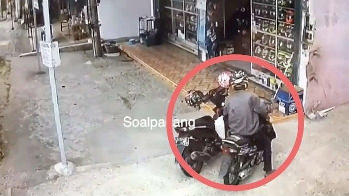 Pencuri Apes di Padang, Dikira Laptop, Rupanya Celana Dalam Wanita, Aksinya Terlanjur Terekam CCTV