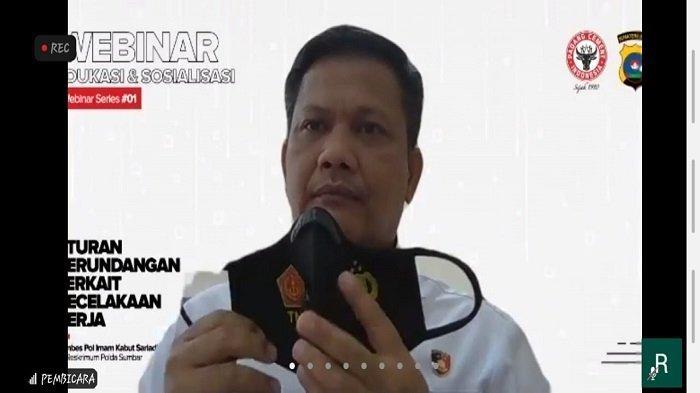 Webinar: Aturan Perundangan Kecelakaan Kerja, Semen Padang Hadirkan Direskrimum Polda Sumbar