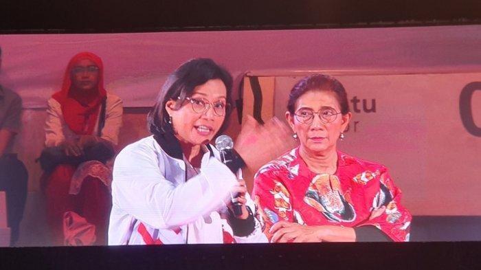Menteri Sri Mulyani  Susi Pudjiastuti Protes Ketika Diberi Air Minum Kemasan