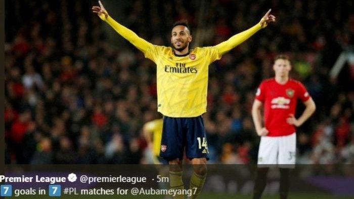 Arsenal Diselamatkan VAR, Gol Aubameyang Gagalkan Kemenangan Manchester United