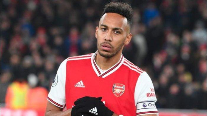 Striker yang juga kapten tim Arsenal, Pierre-Emerick Aubameyang.