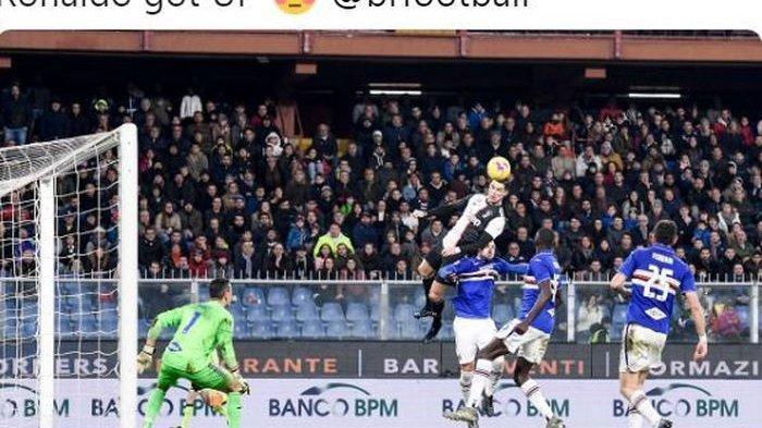 Cristiano Ronaldo Antar Juventus ke Puncak Klasemen Lewat Gol Sundulan Sambil Terbang