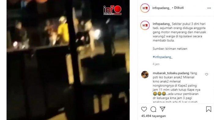 Rombongan Anak Tawuran di Padang Merusuh, Warga yang Duduk di Warung Dilempari Batu