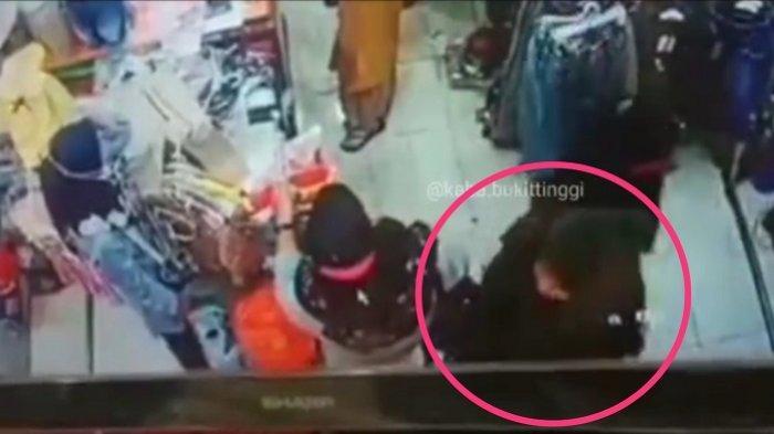 VIRAL Video Aksi Wanita Mencopet di Toko Pakaian di Bukittinggi, Polisi Buru Pelaku