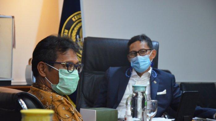 Bahas Pelaksanaan TdS 2021Gubernur Sumbar Irwan Prayitno Temui Sandiaga Uno di Jakarta